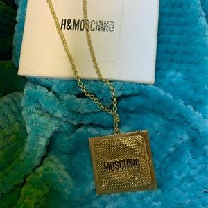 Gold Moschino Condom Necklace Auth